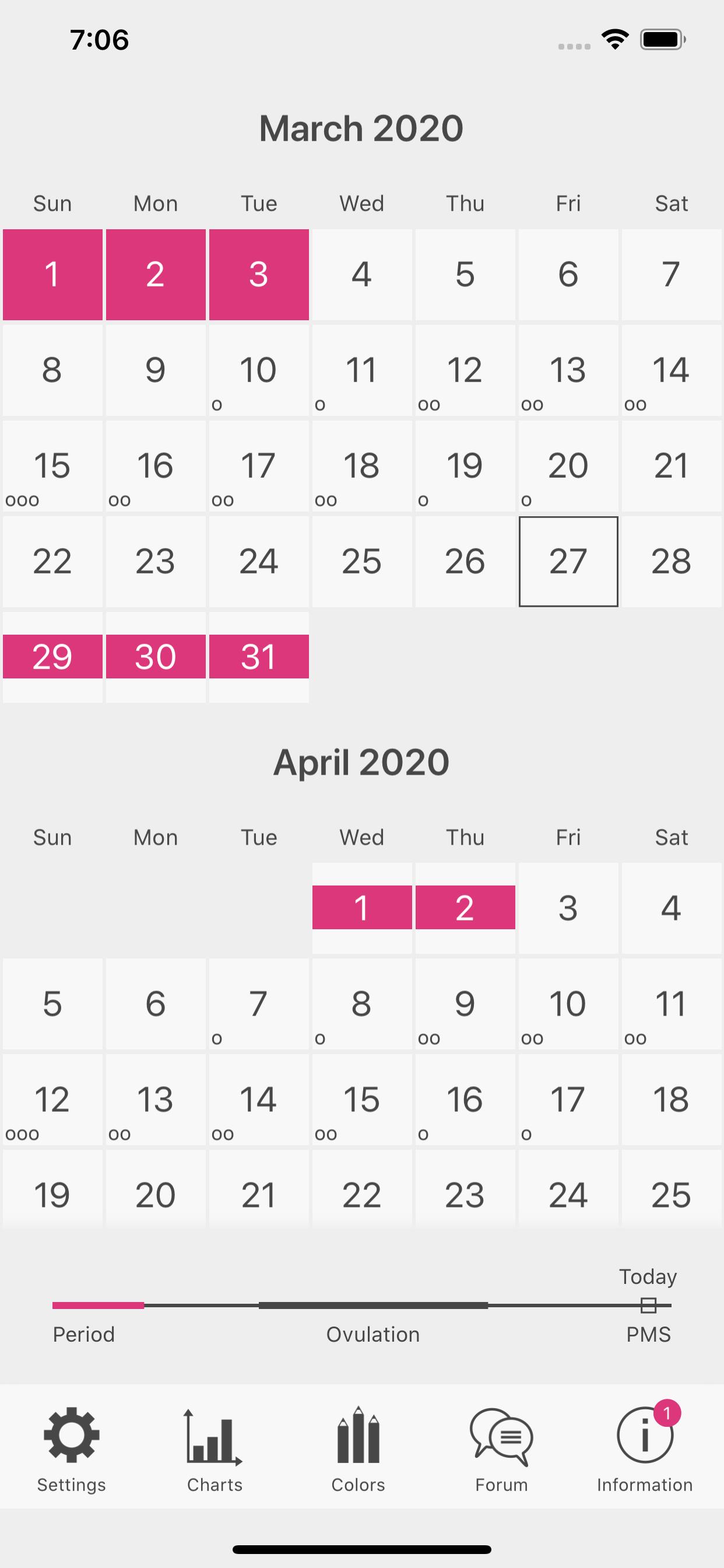 Menstrual Period Tracker app by EFRAC