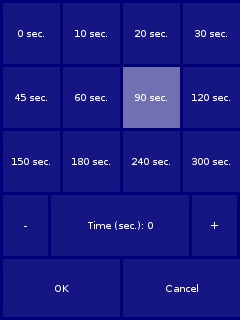 my interval timer, screenshot 2