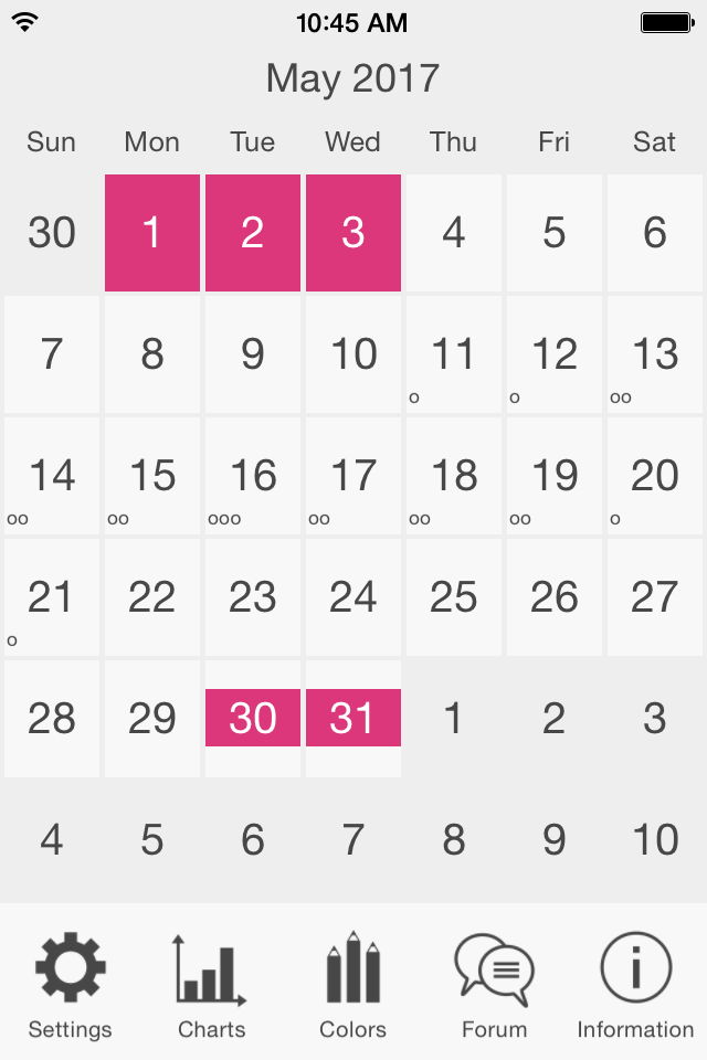 menstruation and ovulation calendar by efrac