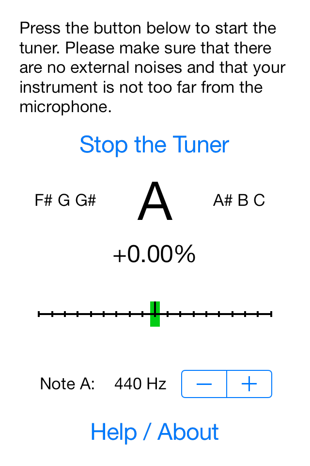 mobile chromatic instrument tuner by efrac